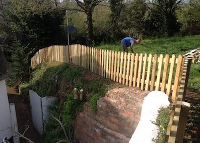 New picket fence in Newton St Cyres