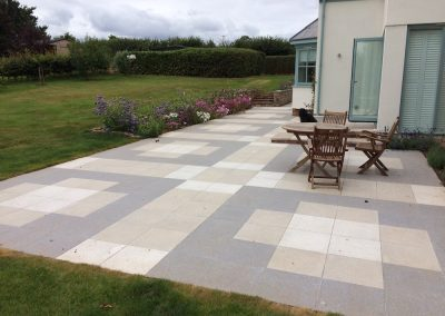 Patio and stone wall construction – Exe Valley, Exeter
