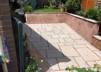New Patio and Retaining Wall – Pinhoe, Exeter