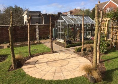 Block Paving , Circle Patio and Rustic Posts – St Leonards, Exeter