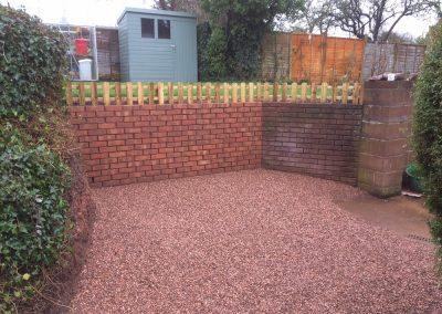 Garden Retaining Wall – Topsham Road, Exeter