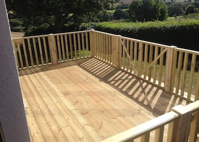 Decking build in Crediton