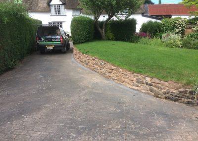 Stone wall rebuild – Newton Sy Cyres, Exeter