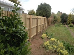 Another feather edge fence goes up