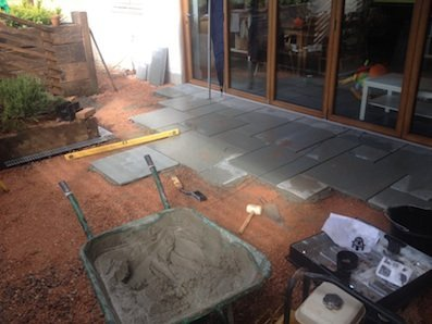New+patio+being+laid+in+Devon+-+03+08+2015