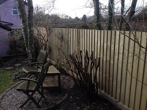 Storm damaged fence replaced