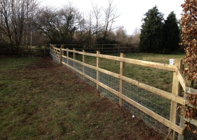 New post and rail fence
