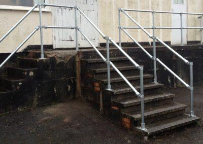 New railings installed