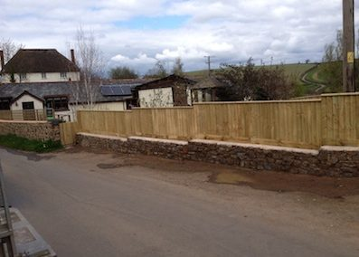 New pathway, wall and fencing