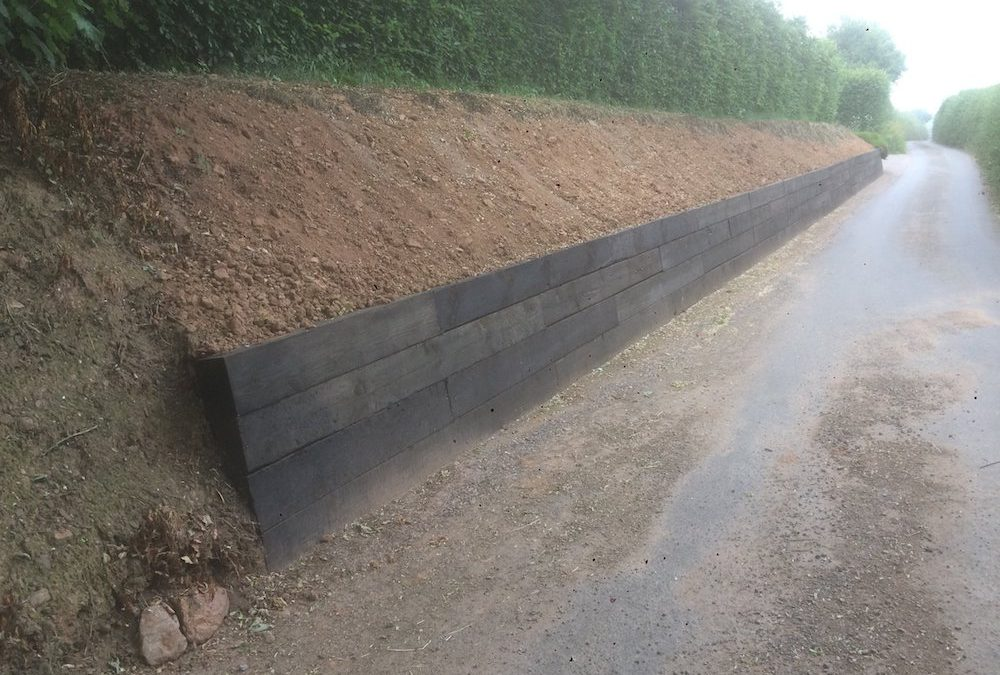 Retaining Sleeper Wall Construction – Exeter