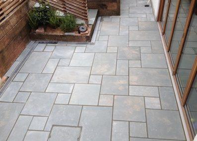 New patio laid near Crediton
