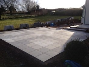 Laying paving in Exeter