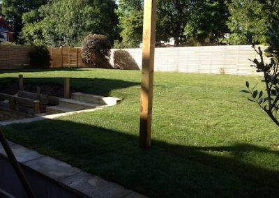 Turfing and fencing a large garden