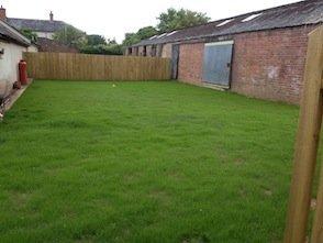 Grass seeding in Brampford Speke