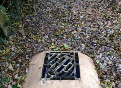 Drainage system to prevent flooding